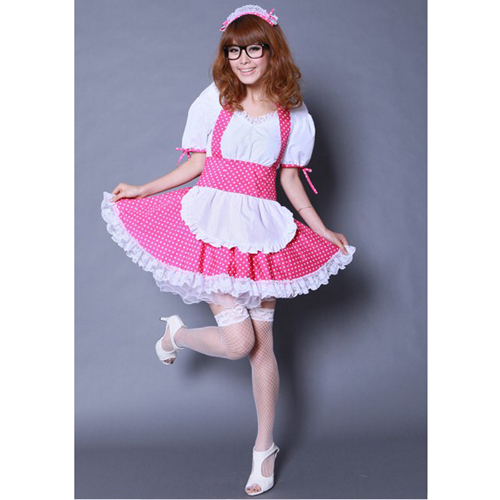 K-ON Pink Maid Cosplay Costume - k-on Photo