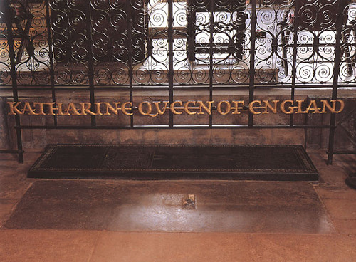 Katherine of Aragon's grave at Peterborough Cathedral