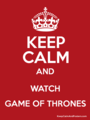 Keep Calm  - a-song-of-ice-and-fire fan art