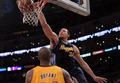 Kobe Bryant defending JaVale McGee - los-angeles-lakers photo