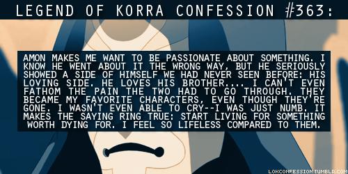 Korra Confessions