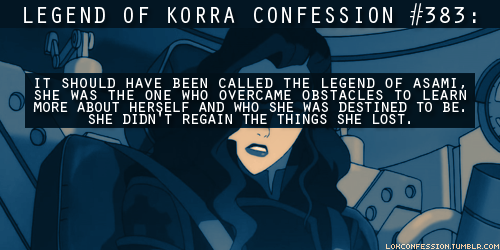 Avatar: The Legend of Korra wallpaper containing anime called Korra Confessions