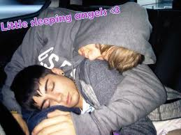 Liam and Zayn sleeping