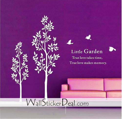 Little Garden Birds and дерево Стена Stickers