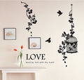 Love Must Be Felt With The Heart Birds and Vine Wall Sticker