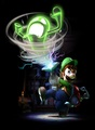 Luigi sucking a green ghost - luigis-mansion-2 photo