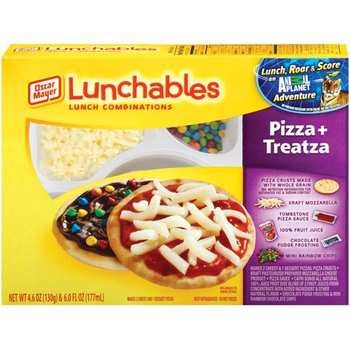 Whatever happened to..... wallpaper called Lunchables Pizza and Treatza