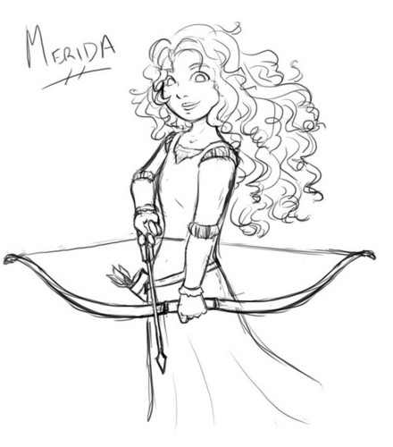 Merida fã arts