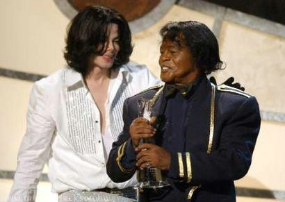 Michael With His Idol and Good Friend, James Brown