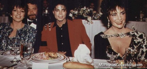 Michael With His Two Friends, Liza Minelli and Dame Elizabeth Taylor