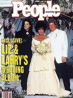 "Michael and Elizabeth Taylor On The 1991 Cover Of ""People"""
