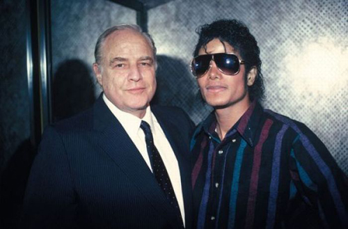Michael and Good Friend, Marlon Brando