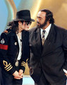 Michael and Luciano Pavarotti - michael-jackson photo