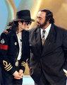 Michael and Luciano Pavarotti - michael-jackson photo