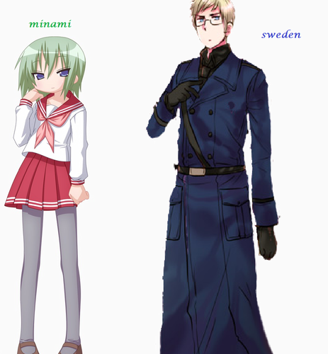 Hetalia wallpaper probably with a full dress uniform and regimentals entitled Minami and sweden