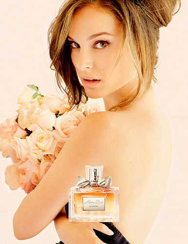 Natalie Portman wallpaper possibly with a portrait titled Natalie Portman Miss Dior