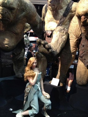 molly quinn kertas dinding probably with a triceratops titled Molly Quinn Comic Con 2012