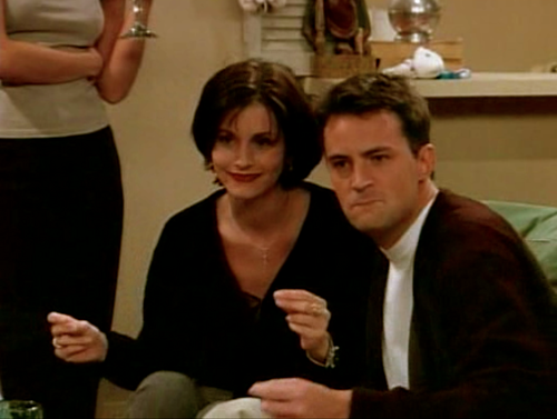 Monica and Chandler wallpaper with a business suit titled Monica and Chandler