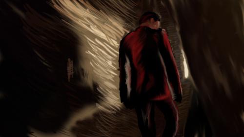 Moriarty entering 221b