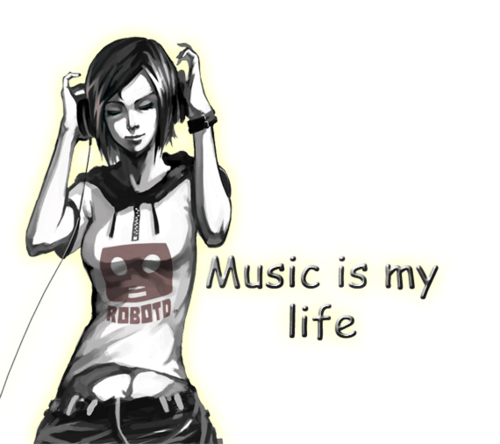 Music wallpaper with anime entitled Music 4 life!