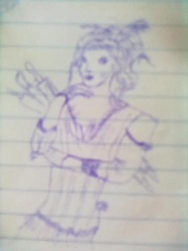 My drawing of mrs.Lovett.:)