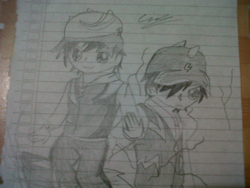 Boboiboy achtergrond possibly containing a sign titled My new Fanart of BoBoiBoy