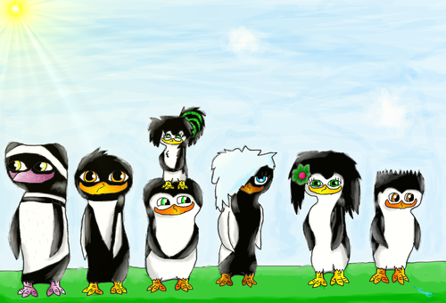 Fans of PoM Hintergrund titled My other peguin Ocs. :P