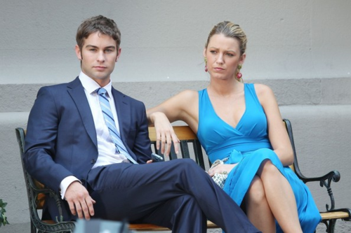 Nate - Gossip Girl - Behind the Scenes - July 12, 2012