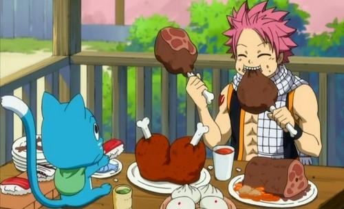 Natsu & Happy dinner