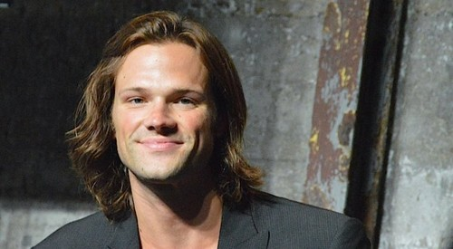 jared padalecki wallpaper probably with a business suit and a portrait called NerdHQ's Conversations for a Cause Panel