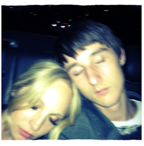 New Twitter pic - Candice and her little Brother after the TCAs.