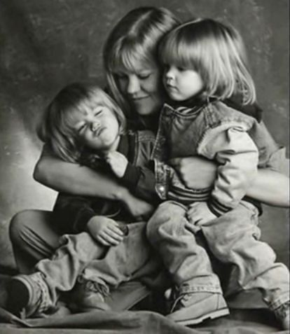 Blake & Dylan with their mom