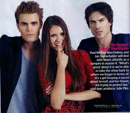 Nina, Ian and Paul Entertainment Weekly Magazine- Comic Con 2012