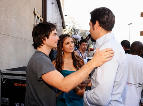 Nina and Ian at TCAs - the-vampire-diaries-tv-show Photo