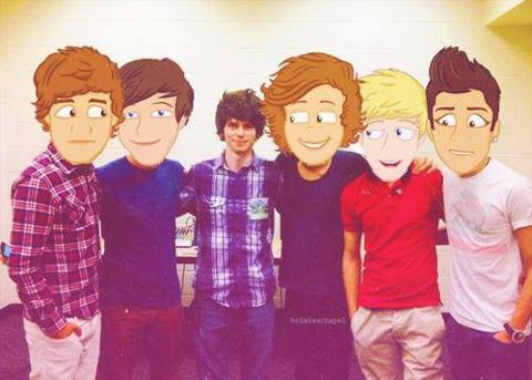 One direction and mark