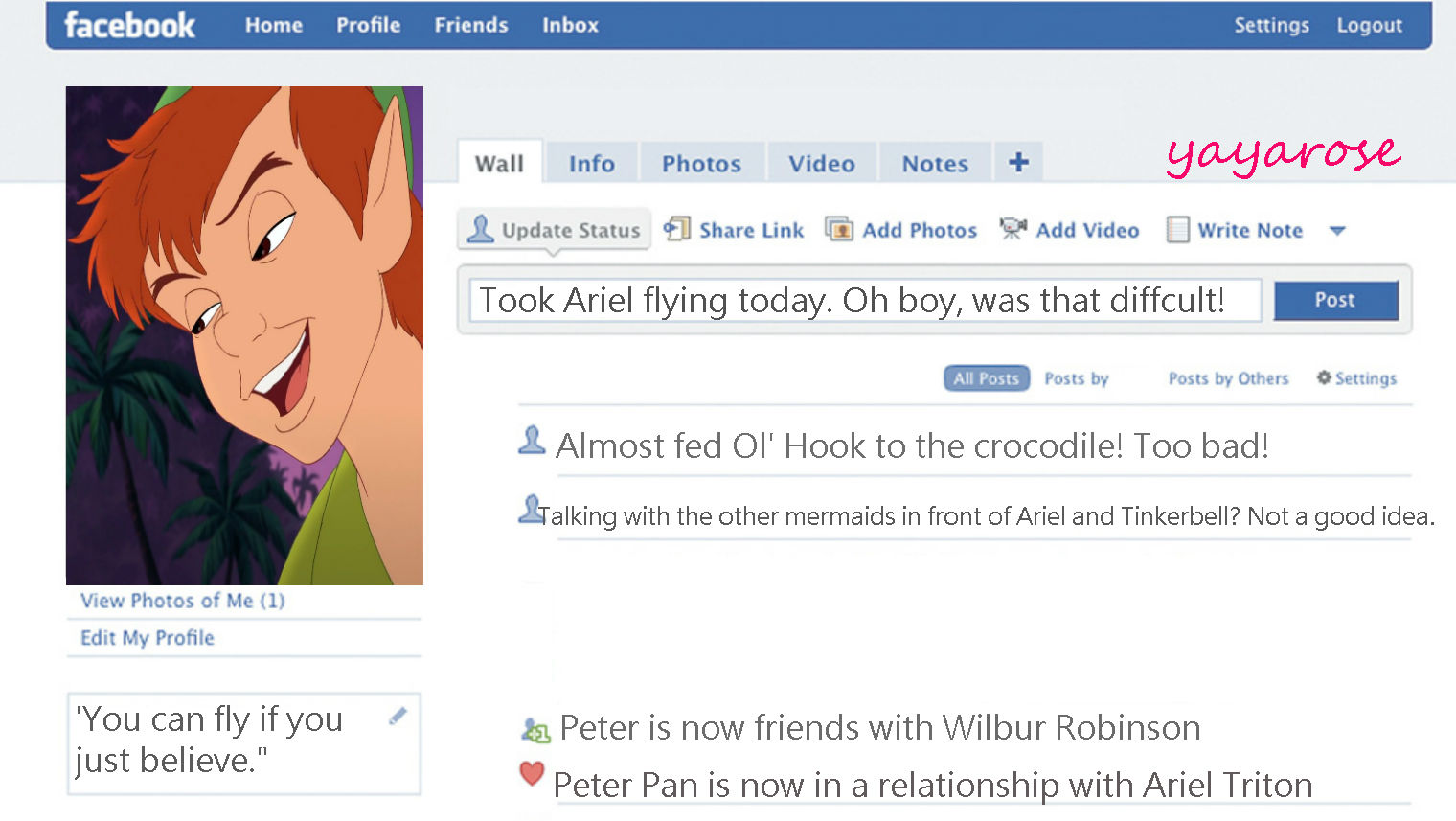 Peter's Facebook Profile