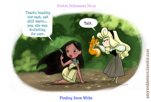 Pocket Princesses No. 22 Finding Snow White - disney Fan Art