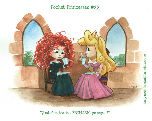Pocket Princesses No. 22 Merida's First चाय Party