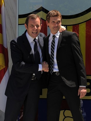 Presentation of Tito Vilanova as the new Barcelona coach