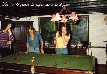 Queen at Ridge Farm in 1975