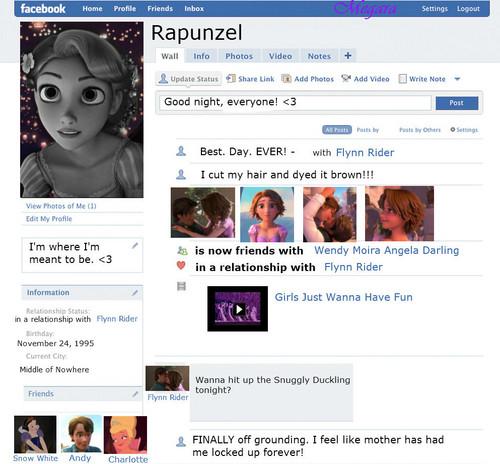 Rapunzel's Facebook