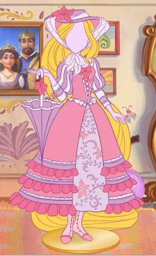 Rapunzel's dresses - tangled Photo