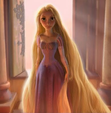Tangled kertas dinding probably with a makan malam, majlis makan malam dress, a gown, and a teh gaun titled Rapunzel