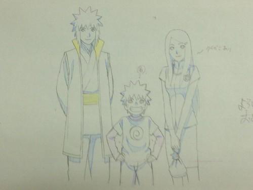 Road to Ninja sketches by Masashi Kishimoto