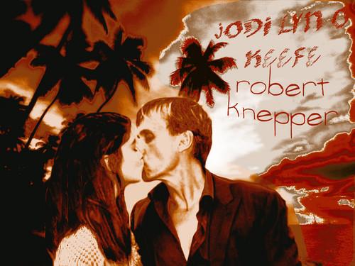 Prison Break Cast দেওয়ালপত্র probably containing জীবন্ত entitled Robert Knepper/Jodi Lyn O'Keefe দেওয়ালপত্র