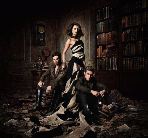 The Vampire Diaries Wallpaper Possibly Containing A Reading Room Bookshop And Street