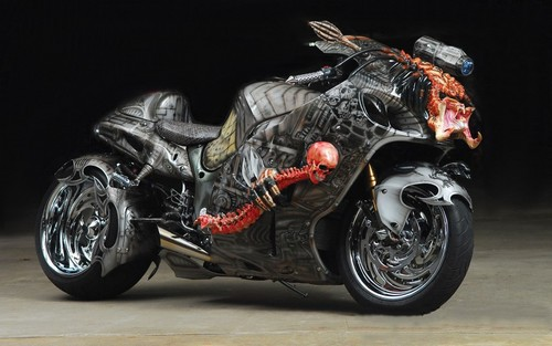 "Motorcycles wallpaper possibly with a motorcycling, a motorcycle cop, and a motorcyclist titled SUZUKI HAYABUSA - ""The Predator Bike"""