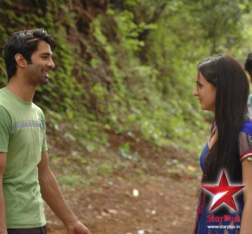 Sanaya and Barun -On set of IPKND
