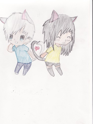 Scott &amp; Cat chibi form! xD - young-justice-ocs Fan Art