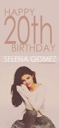 Selena Gomez 20th birthday